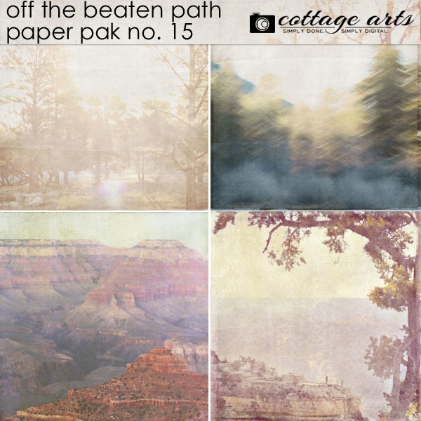 Off The Beaten Path 15 Paper Pak Digital Art - Digital Scrapbooking Kits