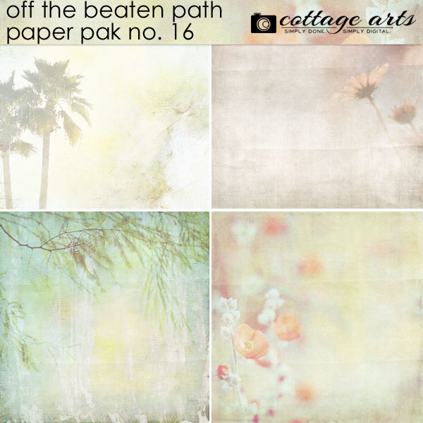 Off The Beaten Path 16 Paper Pak Digital Art - Digital Scrapbooking Kits