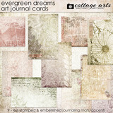 Evergreen Dreams Art Journal Cards