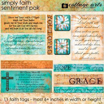 Simply Faith 1 Sentiment Pak