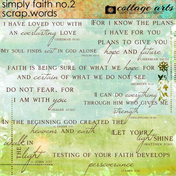 Simply Faith 2 Scrap.Words
