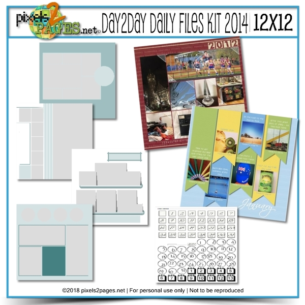 12x12 Daily Files Kit 2014