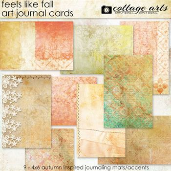 Feels Like Fall Art Journal Cards
