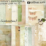 Nature's Sketchbook 10 Paper Pak