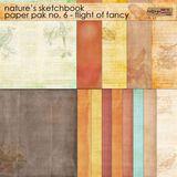 Nature's Sketchbook 6 Paper Pak - Flight Of Fancy