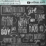 Chalkboard Love Add-on 2