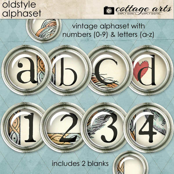 Oldstyle Alphaset