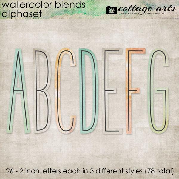Watercolor Blends AlphaSet