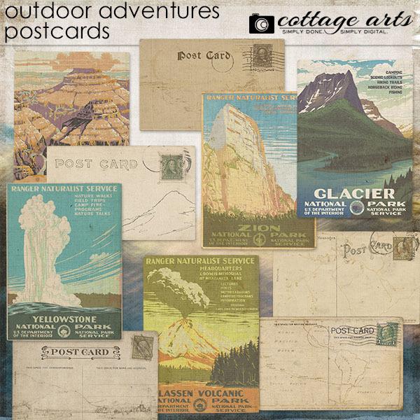 Outdoor Adventures Postcards