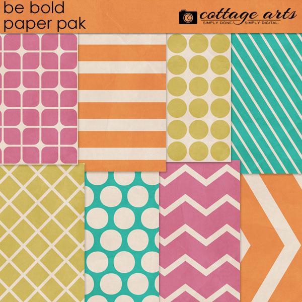 Be Bold Paper Pak Digital Art - Digital Scrapbooking Kits