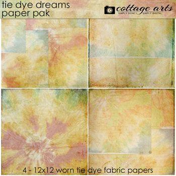 Tie Dye Dreams Paper Pak