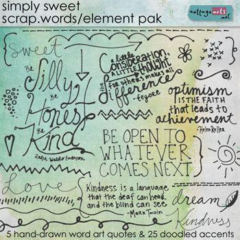 Simply Sweet Scrap.words