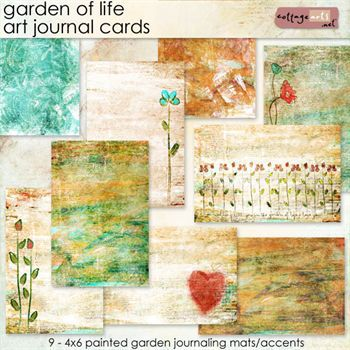 Garden Of Life Art Journal Cards