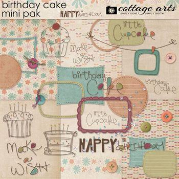 Birthday Cake Mini Pak