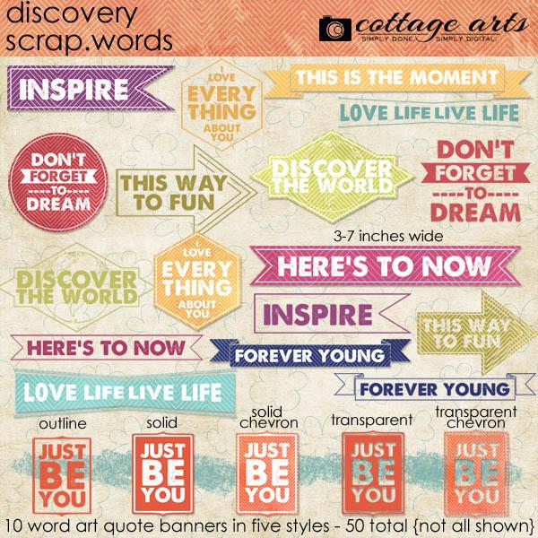 Discovery Scrap Words | Digital Art