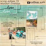 Scrap.edges 15 - Word Art Overlays