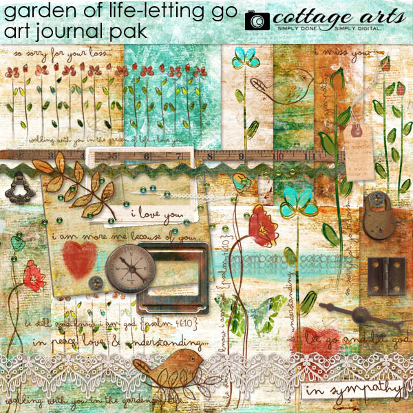 Garden Of Life - Letting Go Art Journal Pak Digital Art - Digital Scrapbooking Kits