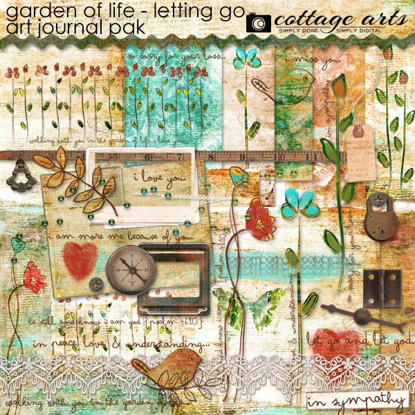 Garden Of Life - Letting Go Art Journal Pak