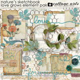 Nature's Sketchbook Love Grows Elements