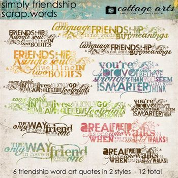 Simply Friendship Scrap.words