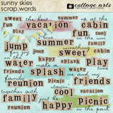 Sunny Skies Scrap.words
