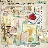 Linens & Lace 12x12 Quick Page Scrapover