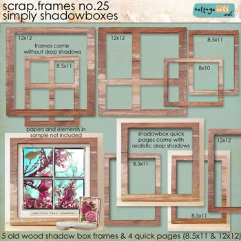Scrap.frames 25 - Simply Shadowboxes