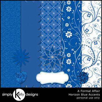 Horizon Blue Accents - A Formal Affair