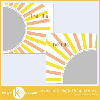 Sunshine Page Template Set