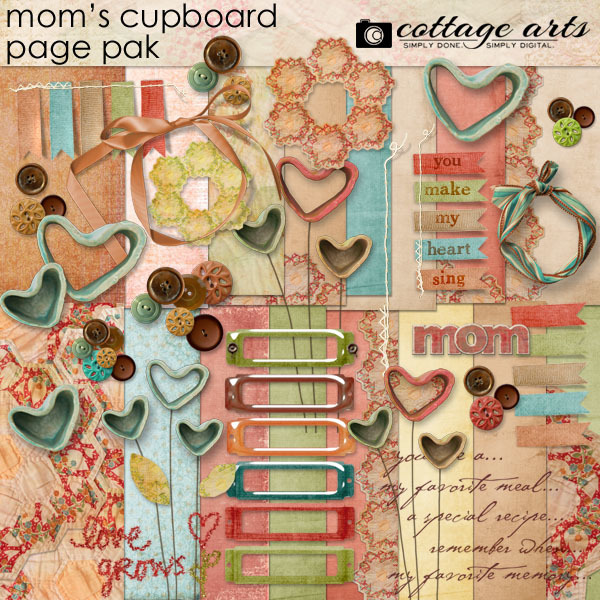 Mom's Cupboard Page Pak Digital Art - Digital Scrapbooking Kits