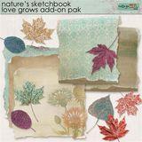 Nature's Sketchbook Love Grows Addon Pak