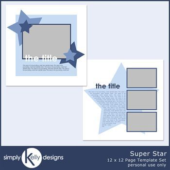 Super Star 12 X 12 Page Template Set