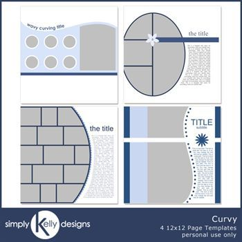 Curvy 12x12 Page Template Set