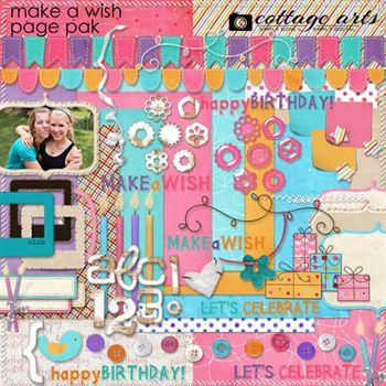 Make A Wish Page Pak Digital Art - Digital Scrapbooking Kits