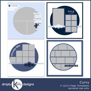 Circular 12x12 Page Template Set