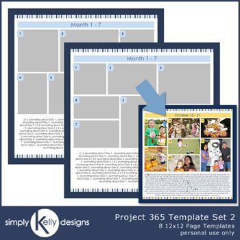 Project 365 Page Template Set 2