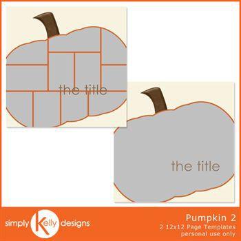 Pumpkin 2 12x12 Page Template Set
