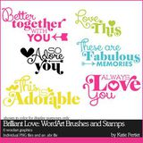 Brilliant Love Add-on Wordart