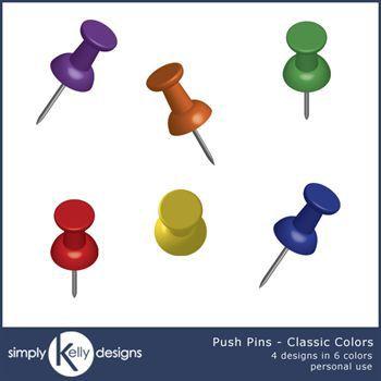 Push Pins Clip Art