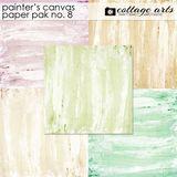 Painter's Canvas 8 Paper Pak