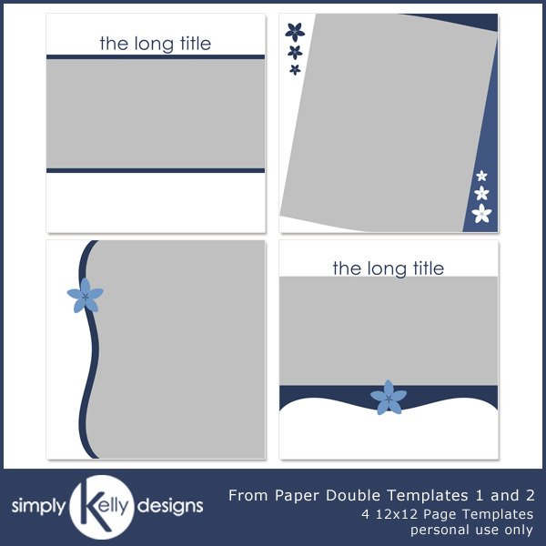 From Paper Double Templates 1 And 2