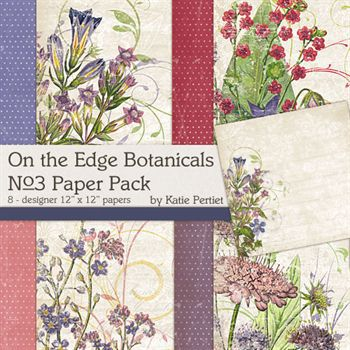 On The Edge Botanicals No.3 Paper Pack
