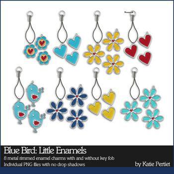 Blue Bird Little Enamel Charms