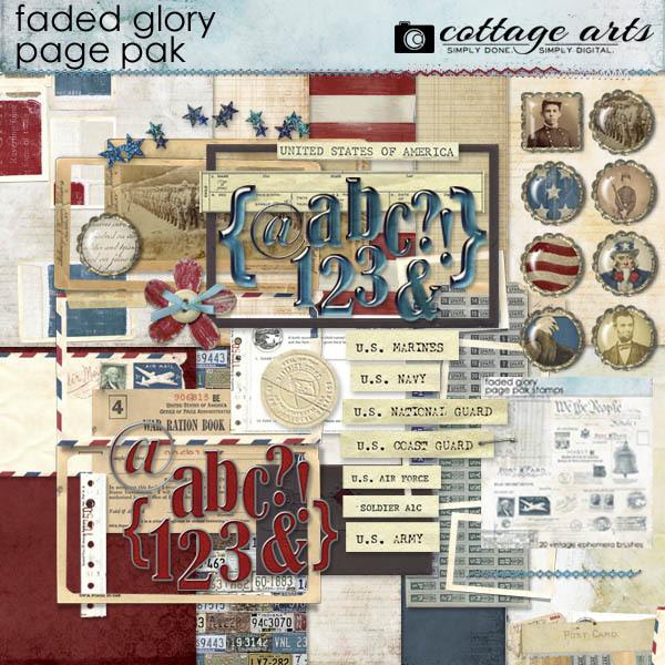Faded Glory Page Pak W2 Alphasets