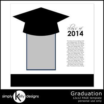 Graduation 12x12 Page Template