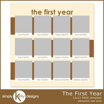 The First Year 12x12 Page Template