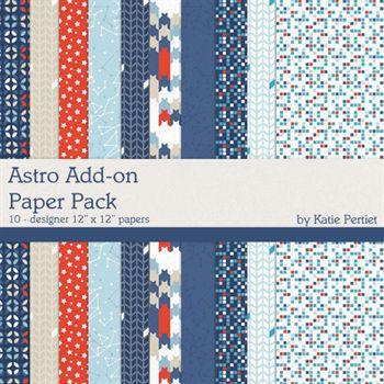Astro Add-on Paper Pack Digital Art - Digital Scrapbooking Kits