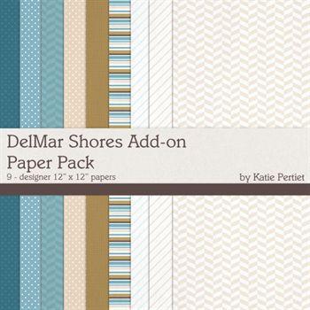 Delmar Shores Add-on Paper Pack Digital Art - Digital Scrapbooking Kits