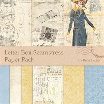 Letter Box Seamstress Paper Pack