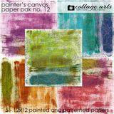 Painter's Canvas 12 Paper Pak